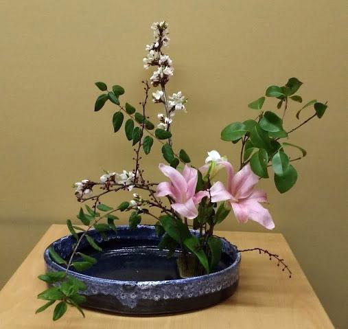 Centro floral Ikebana