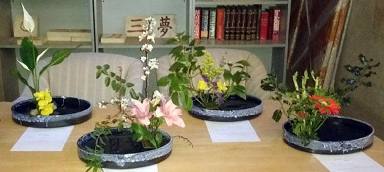 Centros de flores Ikebana